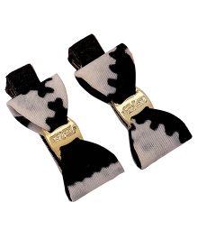 Yashasvi Hair Clip Bow Style - White And Black