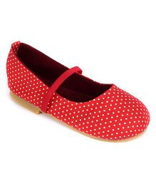 Nena Polka Dot Print Attractive Pair Of Bellies - Red