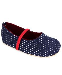 Nena Polka Dot Print Attractive Pair Of Bellies - Dark Blue