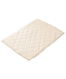 Playette Sheet Quilted Travel Cot Fitted & Padded - Cream