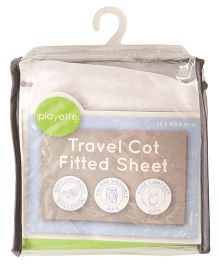 Playette Travel Cot Fitted Sheet - White