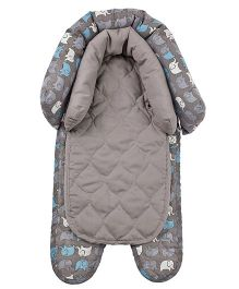 Playette  2 in 1 Head Support Elephant Print - Grey