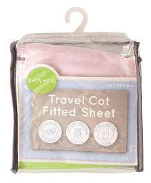 Playette Travel Cot Fitted Sheet - Pink