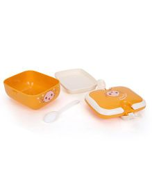 Lunch Box Good Mood Everyday Print - Orange White