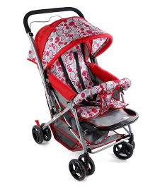 Mee Mee Pram Cum Stroller MM-26 B - Red Grey