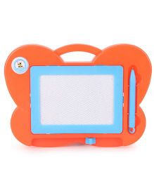 Butterfly Shape Baby Drawing Board And Pen - Orange And Blue