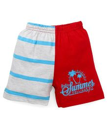 Bodycare Shorts Summer Print - Light Grey Red