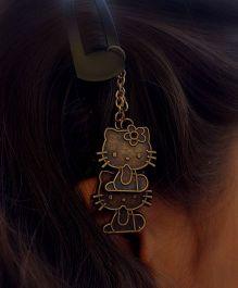 Pretty Ponytails Kitty Antique Dangler Hair Clip - Golden
