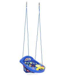 New Natraj Actvity Swing With Play Tray Animal Print - Blue