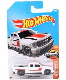 Hot Wheels Hot Trucks Chevy Silverado - White Red Black