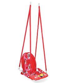 New Natraj Cozy Swing Bear Star Print - Red