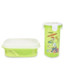 Pratap Hungry Time Lunch Box Set Green (Prints May Vary)