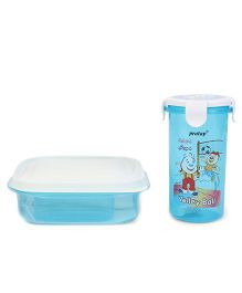 Pratap Hungry Time Lunch Box Set Blue (Prints May Vary)