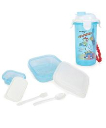 Pratap Hungry Time Lunch Box Kit - White And Blue