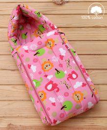 Babyhug Jungle Safari Print Sleeping Bag - Pink