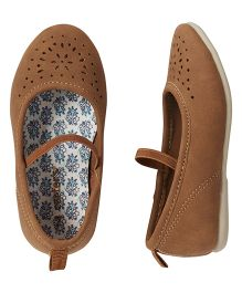 Carter's Cut Work Belly Shoes - Brown