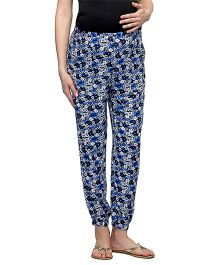 Oxolloxo Maternity Elastic Floral Leggings - Multi Color