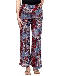 Oxolloxo Maternity Printed Elastic Pants - Multi Color