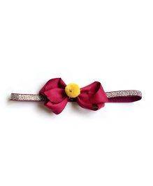 Little Cuddle Maroon Bow Headband - Maroon