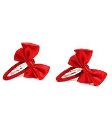 Little Cuddle Pretty Bow Hairclips Set Of 2 - Red