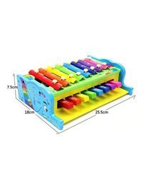 Emob Xylophone Cum Piano Musical Toy - Multicolour