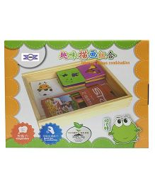 Emob Wooden Drawing Stencils Set Multicolour - 30 Shapes