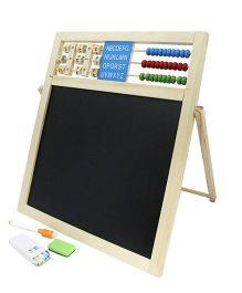Emob Double Sided Magnetic Board Wooden Frame - Black White