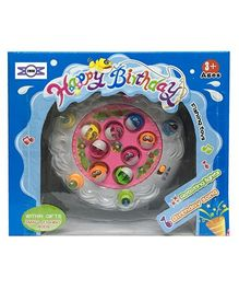 Emob Rotating Musical Fishing Board Game - Multicolour