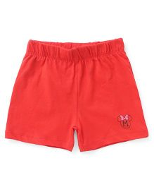 Disney by Babyhug Shorts Minnie Mouse Icon - Red