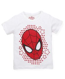 Marvel by Babyhug Half Sleeves T-Shirt Spider Man Print - Red White
