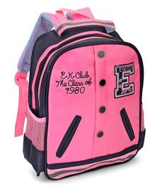 School Bag Pink Black - 12 inch