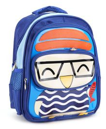 School Bag Duck Print Navy Blue - 13 Inches