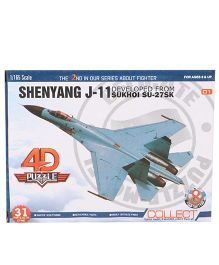 Collect Fighter Planes Toy Shenyang Blue - 31 Pieces