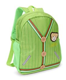 School Bag Teddy Patch Green - 12 inches
