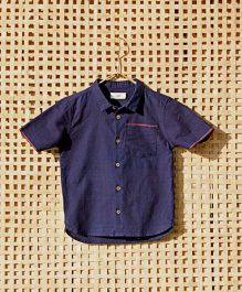 MilkTeeth Megha Ravi Boys Shirt - Dark Blue