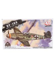 Collect Vintage Fighter Plane Model BF 109 - Yellow