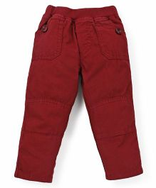 Olio Kids Full Length Trouser With Three Pockets - Maroon