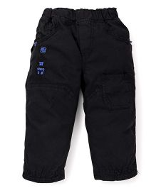 Olio Kids Full Length Solid Color Trouser - Black
