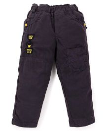 Olio Kids Full Length Solid Color Trouser - Dark Brown