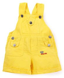 Olio Kids Corduroy Dungaree - Yellow