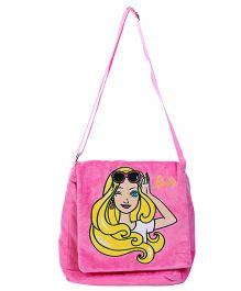 Barbie Plush Sling Bag - Pink