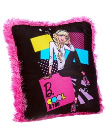 Barbie B Cool Print Cushion - Black Pink
