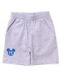 Disney by Babyhug Shorts Mickey Mouse Print - Grey