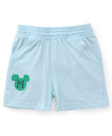 Disney by Babyhug Shorts Mickey Mouse Print - Sky Blue