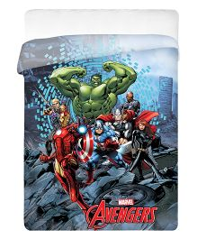 Uber Urban Single Size Comforter Marvel Avengers Print - Multi Color