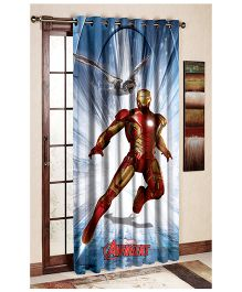Uber Urban Marvel Avengers Print Door And Window Curtain - Multi Color