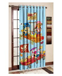 Uber Urban Jake And Neverland Pirates Print Door And Window Curtain - Blue