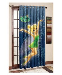 Uber Urban Disney Fairies Print Door And Window Curtain - Blue