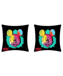 Uber Urban Cushion Mickey Print Pack Of 2 - Black