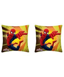 Uber Urban Cushion Spidermen Print Pack Of 2 - Yellow